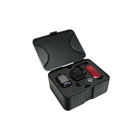 Lezyne Micro GPS Fahrradcomputer mit Herzfrequenzmessgerät und Speed Cadence Sensor schwarz